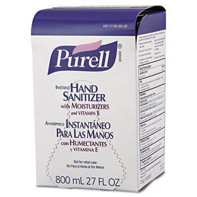 PURELL Instant Hand Sanitizer Refill for 800-mL Bag-in-Box Dispenser