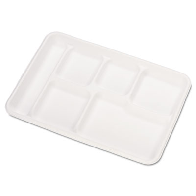 Chinet Molded Fiber Cafeteria Trays