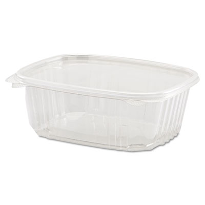 Genpak Plastic Hinged-Lid Deli Containers