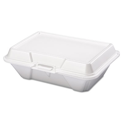 Genpak Hinged-Lid Foam Carryout Containers