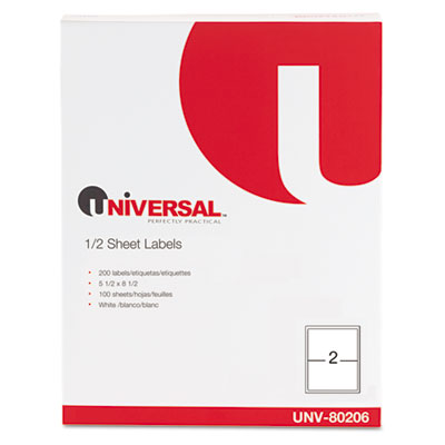 Universal White Multiuse Permanent Self-Adhesive Labels