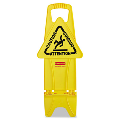 Rubbermaid Commercial Stable Multi-Lingual Safety Sign