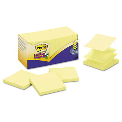 Post-it Notes Super Sticky Canary Yellow Pop-up Notes Refills