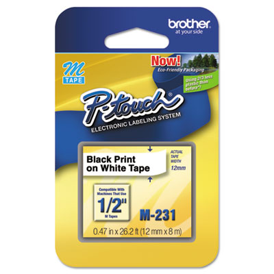 Brother P-Touch M Series Standard Adhesive Labeling Tape