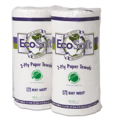 Wausau Paper EcoSoft Green Seal Household Roll Towels