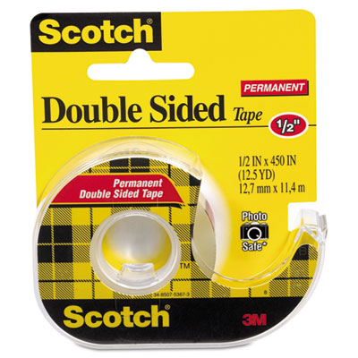 Scotch Double Sided Permanent Tape in Handheld Dispenser
