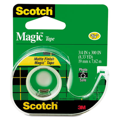 Scotch Magic Tape in Refillable Handheld Dispenser