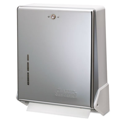 San Jamar True Fold Metal Front Cabinet Towel Dispenser