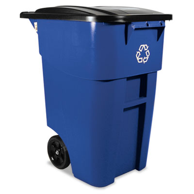 Rubbermaid Commercial Square Brute Recycling Rollout Container