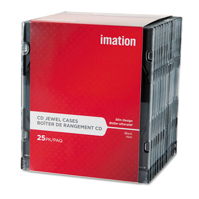 imation CD/DVD Slim Line Jewel Cases