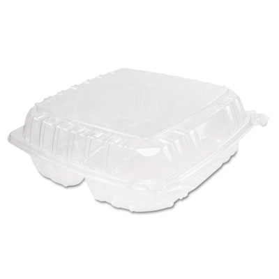 Dart ClearSeal Hinged-Lid Plastic Containers