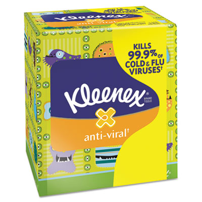 KIMBERLY-CLARK PROFESSIONAL* KLEENEX Anti-Viral Facial Tissue