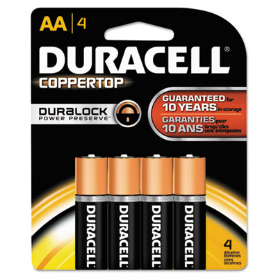 Duracell CopperTop Alkaline Batteries with Duralock Power Preserve Technology
