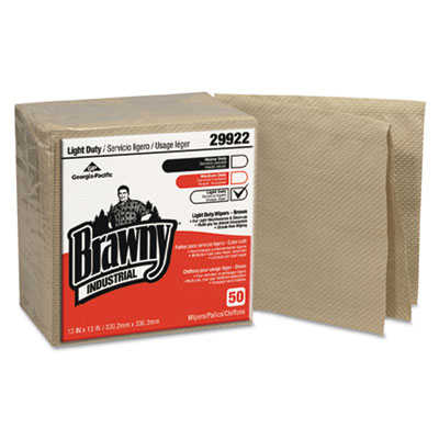 Georgia Pacific Professional Brawny Industrial Light Duty Three-Ply Paper Wipers