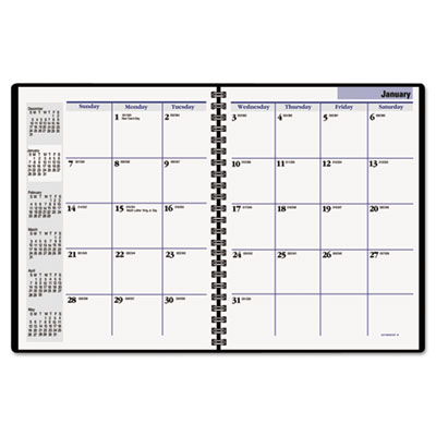 DayMinder Desk-Size Unruled Monthly Planner