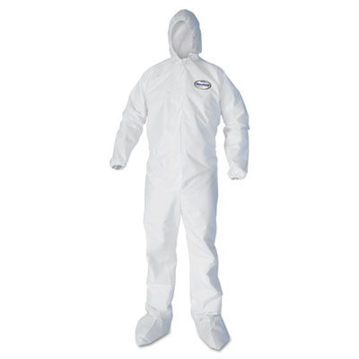 KIMBERLY-CLARK PROFESSIONAL* KLEENGUARD* A40 Elastic-Cuff Hood and Boot Coveralls