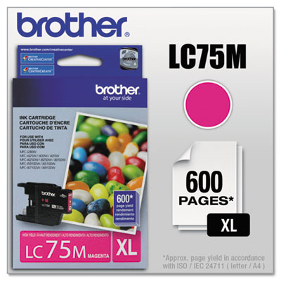 Brother LC752PKS-LC75Y Ink