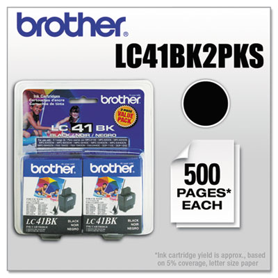 Brother LC41BK2PKS Inkjet Cartridge