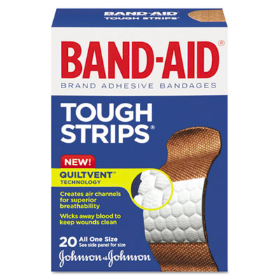 BAND-AID Flexible Fabric Tough-Strips Adhesive Bandages