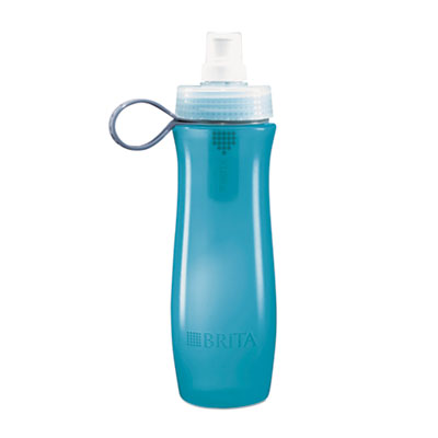 Brita Soft Squeeze Water Filter Bottle - Aqua Blue