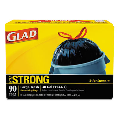 Glad Drawstring Outdoor Refuse Bags