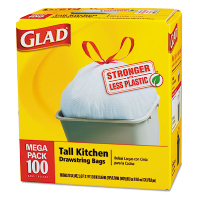 Glad Tall-Kitchen Drawstring Bags