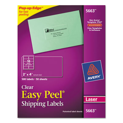 Avery Clear Easy Peel Mailing Labels