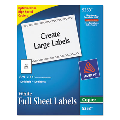 Avery Copier Mailing Labels