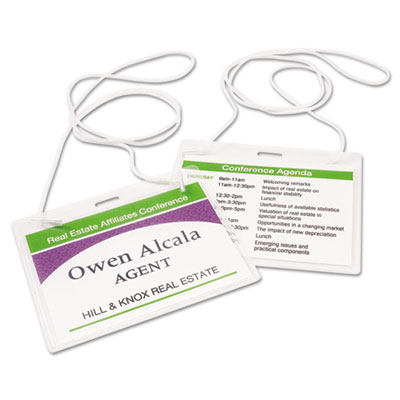 Avery Neck Hanging-Style, Flexible Badge Holders with Laser/Inkjet Inserts