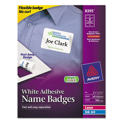 Avery Flexible Self-Adhesive Name Badge Labels