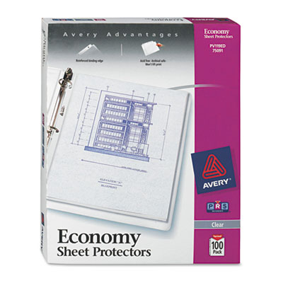 Avery Standard and Economy Weight Clear and Semi-Clear Sheet Protector