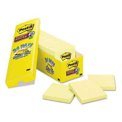 Post-it Notes Super Sticky Pads in Canary Yellow