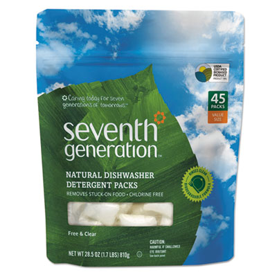 Seventh Generation Natural Automatic Dishwasher Detergent Pacs