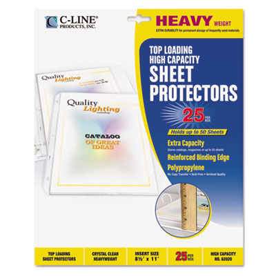 C-Line High-Capacity Sheet Protector