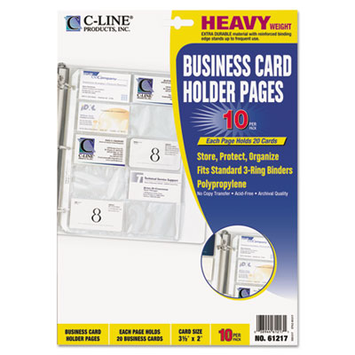 C-Line Business Card Holders