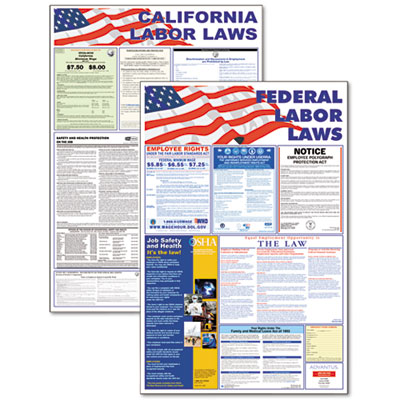 Advantus State/Federal Labor Law Poster Combo Pack