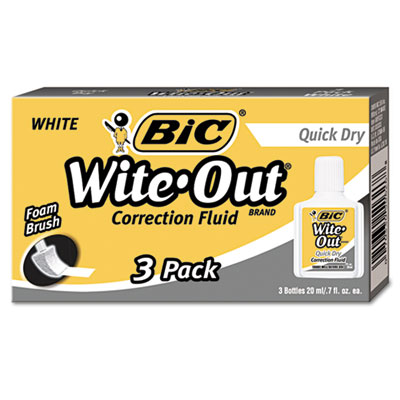 BIC Wite-Out Brand Quick Dry Correction Fluid