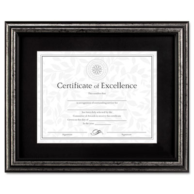 DAX Antique Brushed Charcoal Wood Document Frame