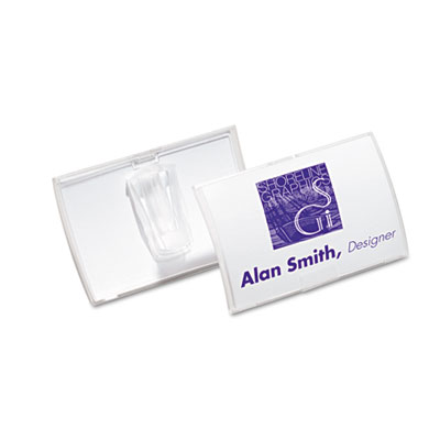 Durable Click-Fold Convex Name Badge Holders