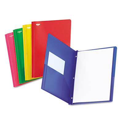 Oxford Translucent Twin-Pocket Folder with Tang Fasteners