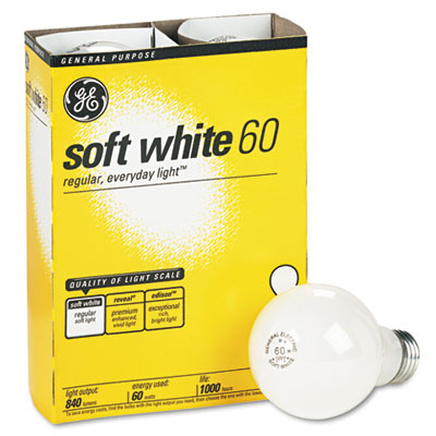 GE Incandescent Globe Light Bulb