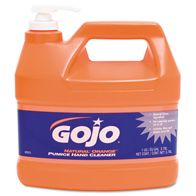 GOJO NATURAL ORANGE Pumice Hand Cleaner with Pump Dispenser