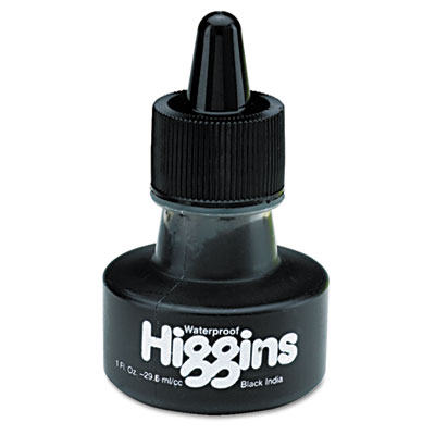 Higgins Waterproof Black India Ink