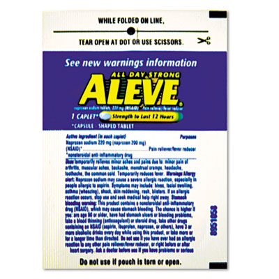 Aleve Pain Reliever Tablets Refill Packs