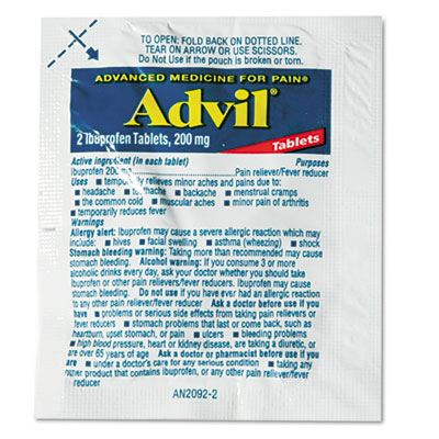 Advil Ibuprofen Tablets Refill Packs
