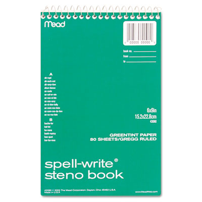 Mead Spell-Write Steno Book