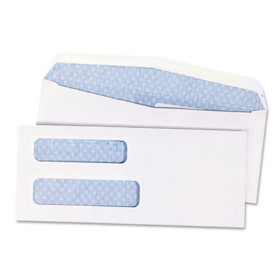 Quality Park Double Window Security Tinted Check Envelope