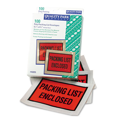 Quality Park Self-Adhesive Packing List Envelope