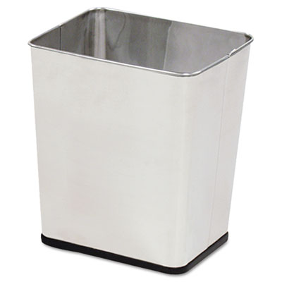 Rubbermaid Commercial Rectangular Stainless Steel Wastebasket