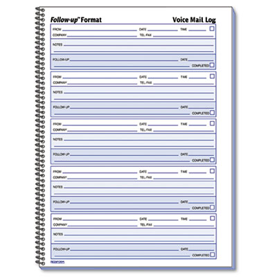 Rediform Voice Mail Wirebound Log Books
